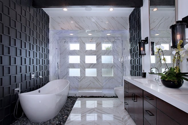 Contemporary Bathroom by M S International, Inc.