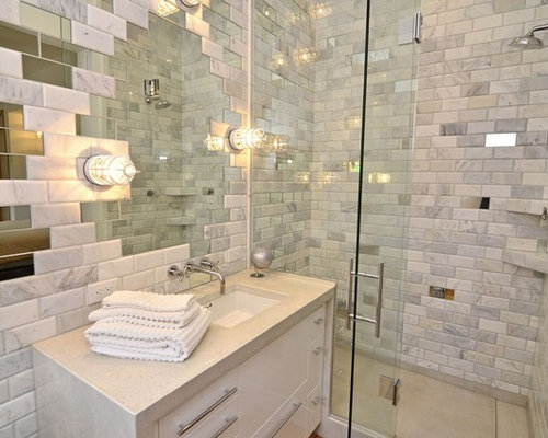 Mirror Tile Home Design Ideas Pictures Remodel And Decor - mirror tiles with wall designs