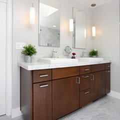 contemporary bathroom by Precision Cabinets & Trim