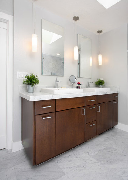 Contemporary Bathroom by Precision Cabinets