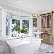 Contemporary Bathroom by Real Sliding Hardware