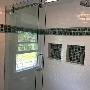 Contemporary Bathroom Remodel with Accent Tile