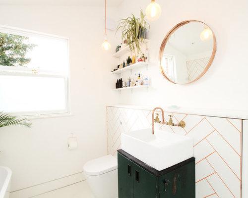 Bagno con pavimento in vinile londra foto idee arredamento