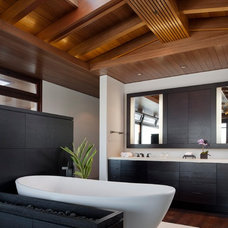 Contemporary Bathroom by Rosemarie Allaire Lighting Design