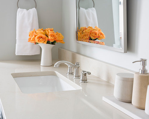 Quartz bathroom countertop houzz for Bathroom ideas with quartz