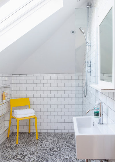 Contemporain Salle de Bain by Saltbox Interiors London
