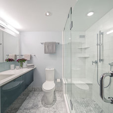 Transitional Bathroom by Savery Design