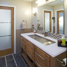 Contemporary Bathroom by Summit Design Remodeling, LLC