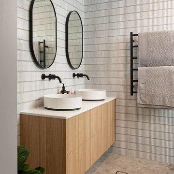 Contemporary bathroom vanity design