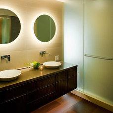 Asian Bathroom by Ventus Design