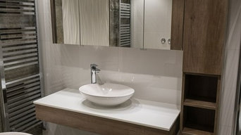 Contemporary Bathroom with Free Standing Bath & Wetroom Shower