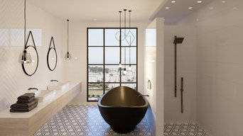 Contemporary bathroom with industrial touch, North Sydney