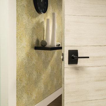 Contemporary Bathroom with Schlage Century Style Latitude Lever