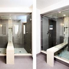 Contemporary Bathroom by YK Stone Center Inc.