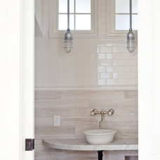 Farmhouse Bathroom by ZeroEnergy Design