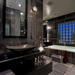 Black And Grey Bathroom Houzz