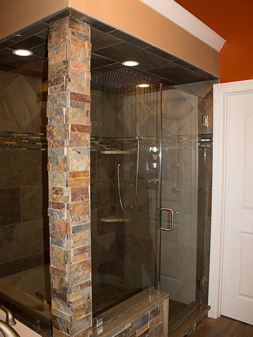 Large Walk In Shower Without Door Bathroom Design Ideas Remodels Photo