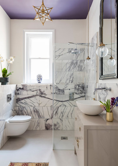 Transitional Bathroom by Anouska Tamony Designs- Architecture & Interiors