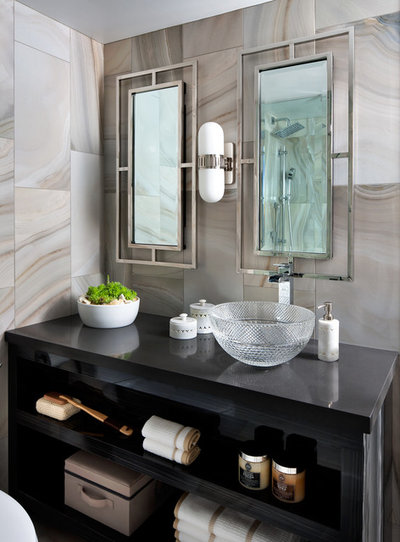 Contemporary Bathroom by Toronto Interior Design Group   Yanic Simard. Bathroom Workbook  The Right Height for Your Sinks  Mirrors and More