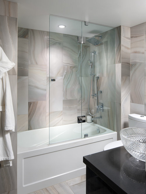 Frameless Hinged Tub Enclosure Door Houzz
