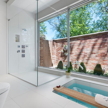 Contemporary design and finishes - master bathroom
