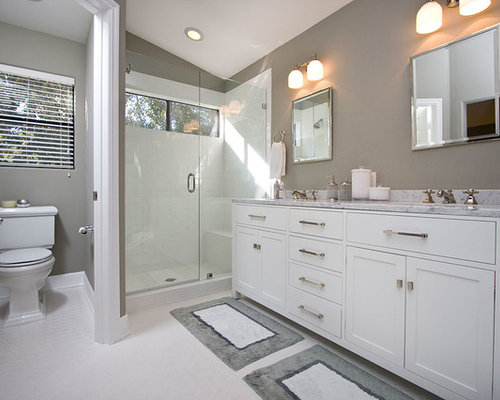 Brilliant Gray And White Bathroom Ideas Pictures Remodel And Decor Largest Home Design Picture Inspirations Pitcheantrous