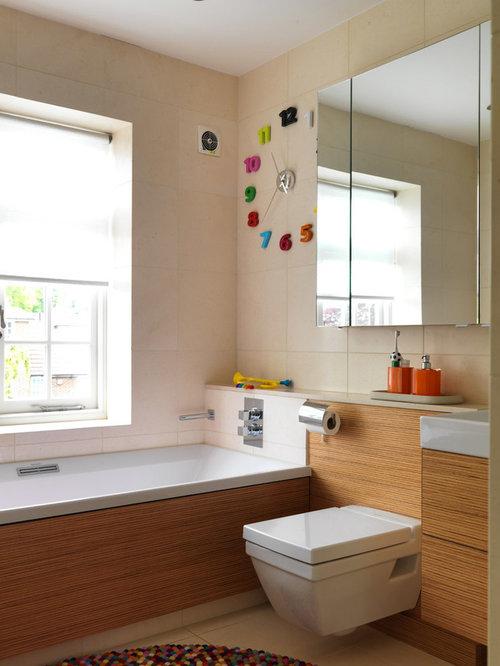 Family Bathroom Design Ideas Renovations Photos With Black Tiles