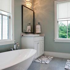 Contemporary Bathroom by Riverside Designers