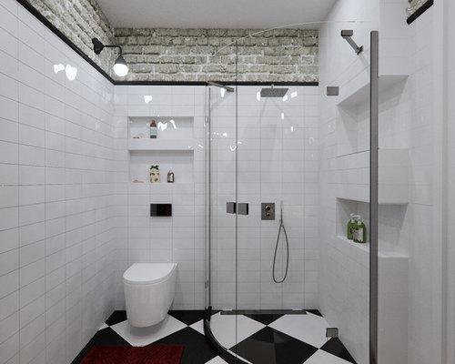 Industrial badezimmer mit kassetten schrankfronten ideen for Badezimmer industriedesign
