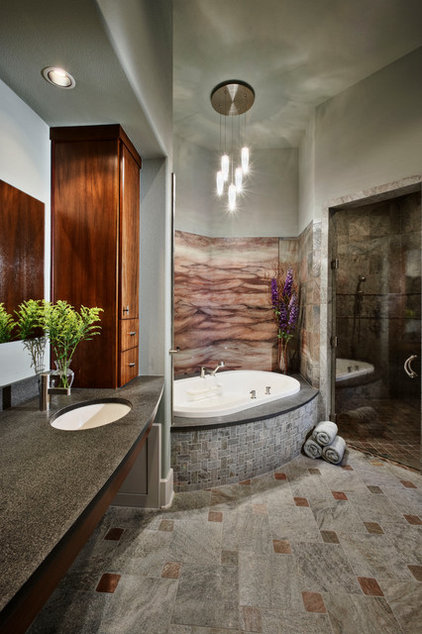 Contemporary Bathroom by Pillar Custom Homes, Inc.