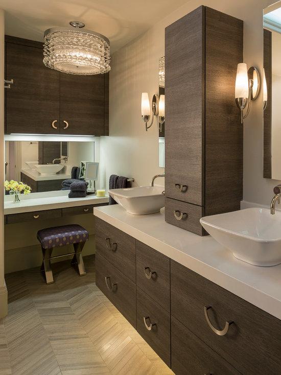 bathroom makeup vanity | houzz
