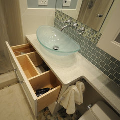 contemporary bathroom by Cherry Hill Cabinetry