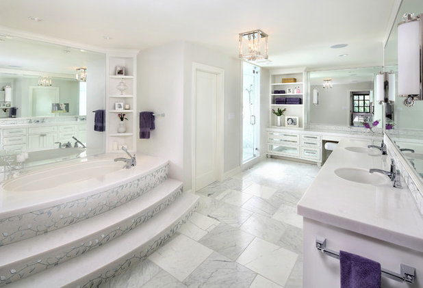 Room Of The Day Luxe Hotel Bathrooms Inspire An All White