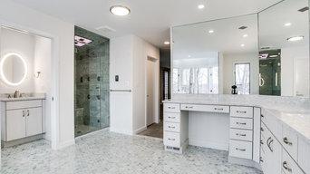 Contemporary Master Bathroom Remodel Bethesda, MD