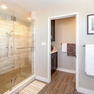 Contemporary Master Bathroom Remodel El Segundo, CA.