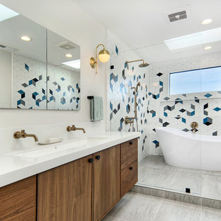 Contemporary Mid Century Style Master Bath and Guest Bath
