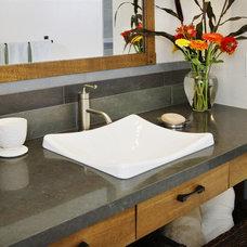Contemporary Bathroom by MAK Design + Build Inc.