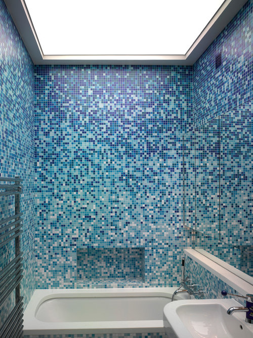 Heat sensitive tile houzz for Trendy bathroom tiles