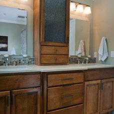 Contemporary Bathroom by Kirstin Havnaer, Hearthstone Interior Design, LLC