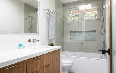 Bathroom of the Week: Warm and Contemporary in 50 Square Feet