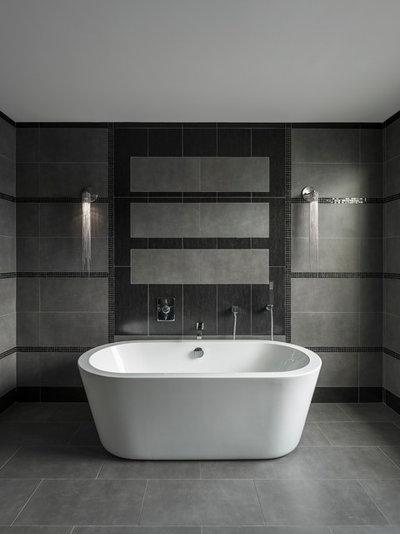 Contemporaneo Stanza da Bagno by Chris Jovanelly Interior Design