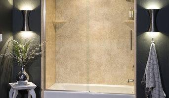Contemporary Shower Doors with Unique Door Sliding System (Closed Door)