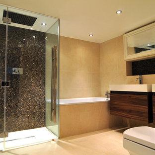 Trendy mosaic tile bathroom photo in London