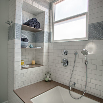 Contemporary Tiled Bathroom