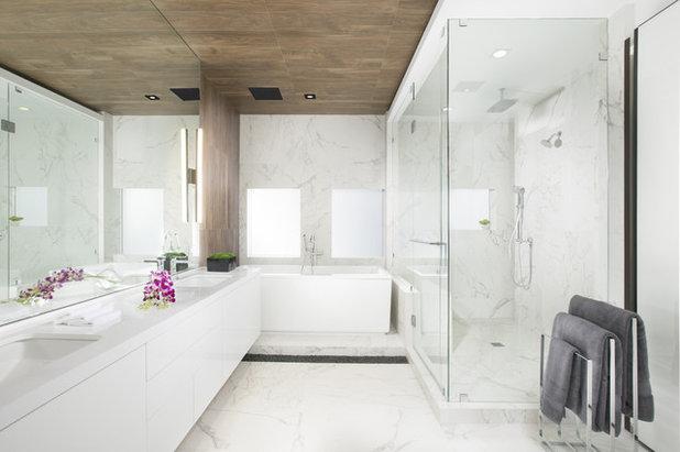 Cute Contemporary Bathroom by DKOR Interiors Inc Interior Designers Miami FL