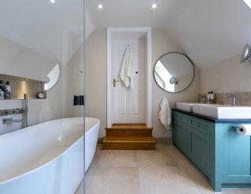Contemporary Vaulted Master Bathroom