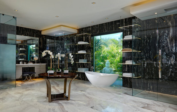 Contemporary Bathroom by NXG Studio