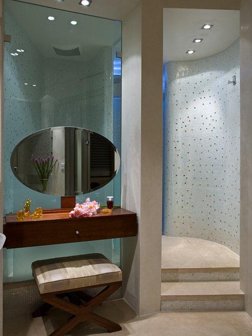 Miami Bathroom Design Ideas Renovations Photos With Mosaic Tile Flooring