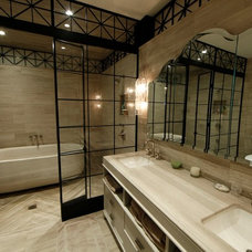Contemporary Bathroom by Control4