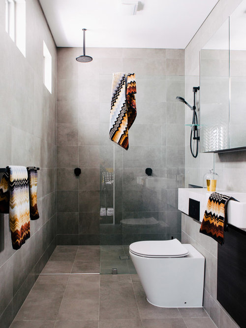 En Suite Shower Room Design Ideas Part - 32: Photo Of A Modern Shower Room In Sydney With An Alcove Shower, A One-